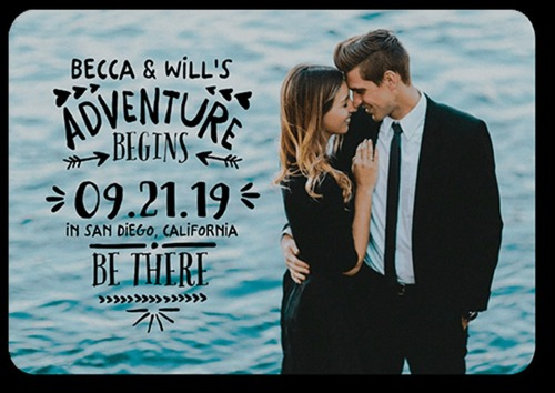 Small beach theme save dates