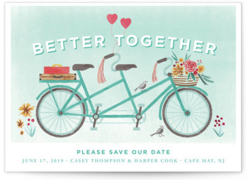Small bike wedding invites