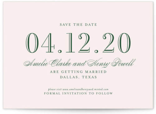 Small elegant save the date cards
