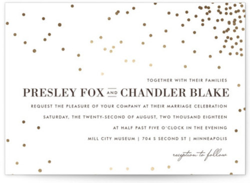 Small formal wedding invitation designs
