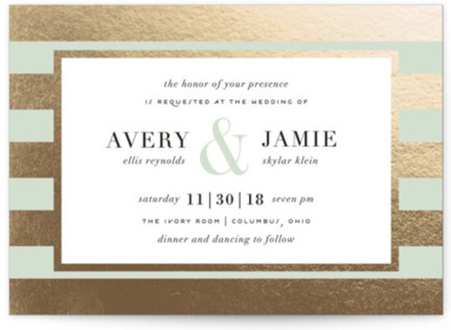 Small gold mint wedding colors