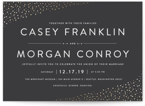Small modern wedding invite