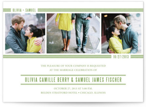 Small photo wedding invites example