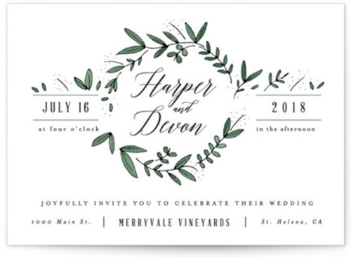 Small rustic wedding invitations