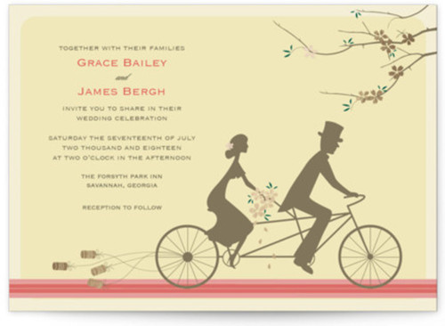 Small unique wedding invitation design