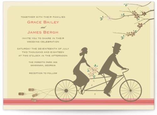 Small unique wedding invitation design