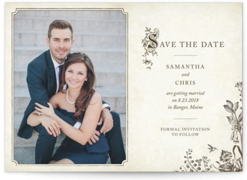 Small vintage save the date cards