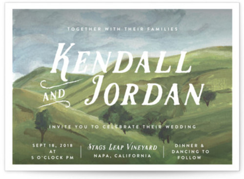 Small winery wedding invite theme