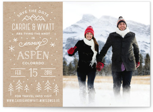 Small winter save the date card